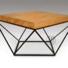 stolik kawowy drewno metal