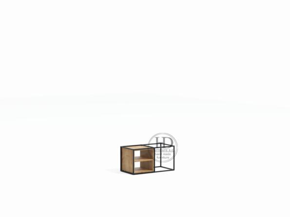 Industrialna półka systemowa drewniana